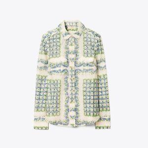 Tory Burch 12 Printed Cotton Silk Blouse Terrance Ditsy Shirt XL 2020