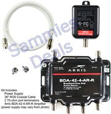 Arris 4-Port Cable, Modem, TV, OTA, HDTV Amp Signal Booster with Active Return