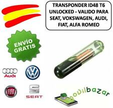 TRANSPONDER ID48 T6 TP08  CAR KEY  MEGAMOS CHIP AUDI VW SEAT ALFA FIAT