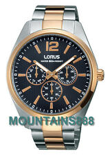 LORUS Watch, StainlessSteel, Date/Day, WR50, Rose/G/Two Tone, Mens, RP618CX-9