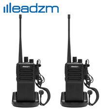 2 Pack Leadzm Le-C2 2800 mAh Two-Way Ham Radio Walkie Talkie Transceiver