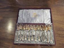 Set of 12 cased Spoons 830/1000 Silver Gilt  (1891) Gustaf Mollenborg Stockholm