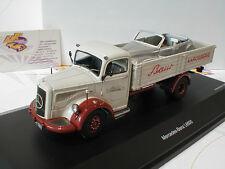 """Schuco 03025 # MERCEDES l6600 pick-up """"karosseriewerk Baur"""" M. BMW 502 1:43"""