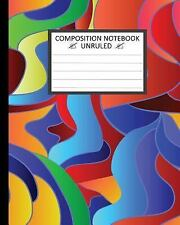 Unruled Composition Notebook 8 X 10. Seamless Rainbow Colors Pattern :...