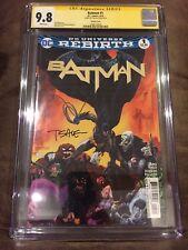 BATMAN #1 CGC 9.8 SIGNED TIM SALE VARIANT DC UNIVERSE REBIRTH 2016 (KING/FINCH)