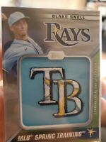 2021 Topps Series 1 Blake Snell Commemorative Cap Logo Patch #STCL-BS Tampa Rays
