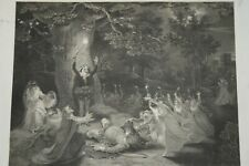 MERRY WIVES OF WINDSOR, FALSTAFF DISGUISED Large SHAKESPEARE Engraving