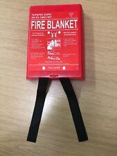Fire Blanket  1 meter x 1 meter KITEMARKED Red Plastic Case BS EN TopSpec