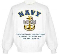 USS WILLIAM V PRATT  DDG-44//DL-13//DLG-13*VINYL /& SILK SCREEN CREWNECK SWEATSHIRT