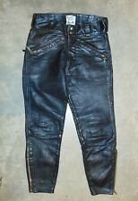 1960's Vintage Langlitz Leather Motorcycle Racing Pants, Competition Trousers