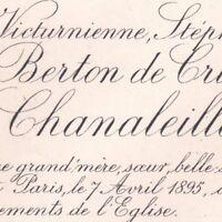 Marie Stéphanie Des Balbes De Berton De Crillon De Chanaleilles Paris 1895