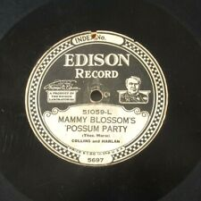 New listing Collins & Harlan (coon) Edison 51541 ~Mammy Blossom'S 'Possum Party/Like To Know