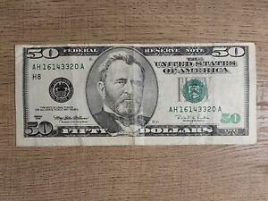 Misaligned 1996 $50 Bill - Rare Currency Error, Collectors Item