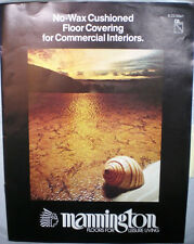 MANNINGTON MILLS VINYL Tile Flooring ASBESTOS Perma-Shield Backing Catalog 1970s