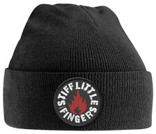 Stiff Little Fingers 'Punk Patch' (Black) Beanie Hat - NEW & OFFICIAL!