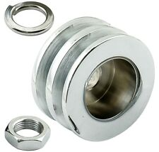Mr Gasket 6809 Chrome Double Groove Pulley Kit  For Most GM & Ford Alternators