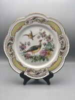 Schumann Bavaria Reticulated Birds & Flowers Dinner Plate