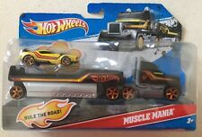 Hot Wheels 2011 Muscle Mania Semi Truck And Muscle Car Brand New!