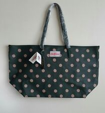 CATH KIDSTON GREEN SPOT LARGE TOTE BAG WITH LEATHER TRIM NWT