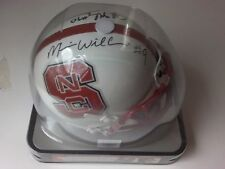 North Carolina State Mario Williams John McCargo Autograph Schutt Mini Helmet