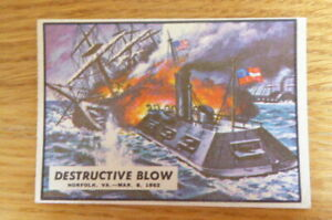 A&BC GUM CARD CIVIL WAR NEWS #8 DESTRUCTIVE BLOW  1965 EXCELLENT