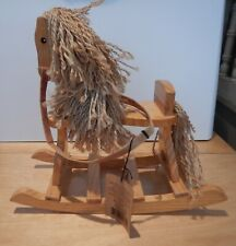 """Boyds Collection Rocking Horse #919820Rh Wood String Hair 10 1/2"""" X 12"""" with Tag"""