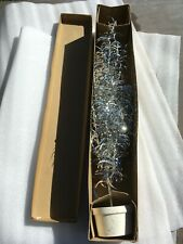 "VINTAGE ORIGINAL 21"" ALUMINUM XMAS TREE TABLE TOP BOX JAPAN WOODEN BASE POT"