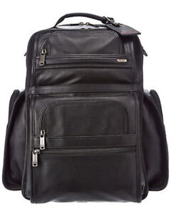 Tumi Alpha T PASS Business Class Leather Backpack Laptop bag Brand New Wrapped