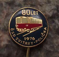 1976 Czechoslovakia Railway System Train Engine Locomotive CSD Pin Badge