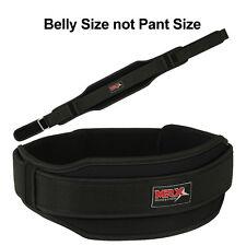 "Weight Lifting Belts Gym Fitness Training MRX Back Support 5"" Wide Belt Black M"