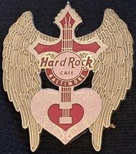 Hard Rock Cafe BALTIMORE 2007 Rock Angel Guitar Series PIN Winged + Heart #37131