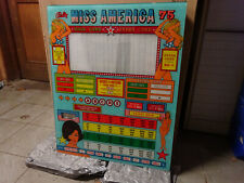 Bingo backglass ' MISS AMERICA '75 ' Bally, no shipping, only collect !