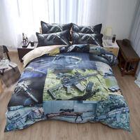 Military Machine Gun Print Duvet/Quilt/Doona cover Pillowcase bedding set HD 3D