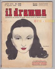 IL DRAMMA 1941 n. 359 - Copertina di Brunetta Mateldi - Copioni in inserzione FJ