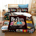 The Beatles 60th Anniversary Design Bedding Set Duvet Cover and Pillowcase King