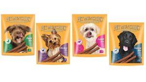 Pet Munchies 100% Natural Dog Treat Stix - Venison/Lamb/Chicken/Duck - 50g