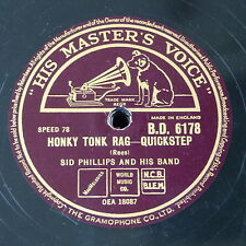 78rpm SID PHILLIPS BAND honky tonk rag / you turned the tables on me