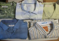 🌴 Lot 5 Tommy Bahama Mens XL L/S/S/S Shirts Silk Cotton Poly Only 10.00/Shirt🌴