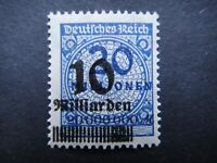 Germany 1923 ERROR Stamp MNH Wmk Overprint Surcharged Deutsches Reich German Deu