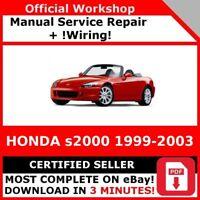 WIRING # FACTORY WORKSHOP SERVICE REPAIR MANUAL HONDA S2000 1999-2003