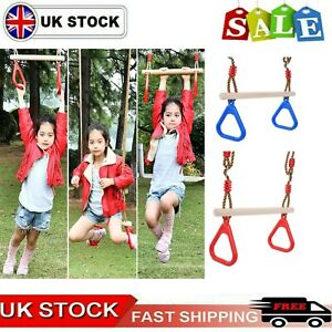 Kids Trapeze Bar Swing Seat & Rings | Playground Sets & Accessories for Children