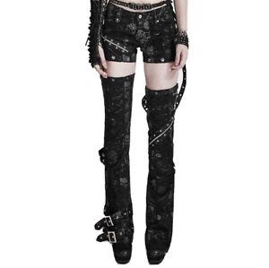 Punk Rave Detachable Trousers Skull Battered Holes Visual Kei
