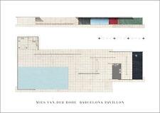 Ludwig mogi van der Rohe Barcellona GAZEBO POSTER stampa d'arte immagine 50x70cm