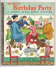 Vintage Little Golden Book MR. WIGG'S BIRTHDAY PARTY Mary Poppins 1st Ed