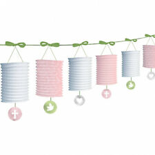 Christening Lantern Garland Communion Confirmation Pink Decoration FREE P&P