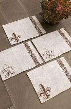 Fleur de Lis ~ Fleur de Bienvenue Tapestry Placemats Set