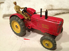 DINKY TOYS MASSEY HARRIS TRACTOR W/DRIVER VERY GOOD ORIGINAL