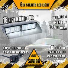 16 LED Emergency Dash Car Vehicle Windshield Warning Flash Strobe Light WHITE