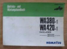 Komatsu Radlader WA380-1 und WA420-1 Betriebsanleitung