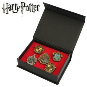 Harry Potter Hogwarts House 5x Metal Pin Badge Box Set  16